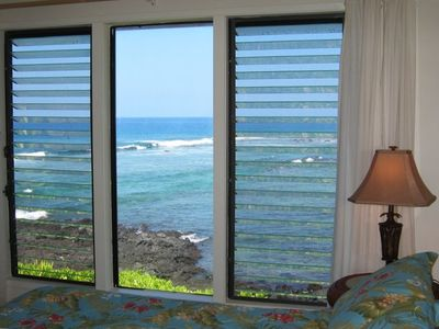 This is the view from our king bedroom. Spectacular. (Kona 101 Vacation Rentals)