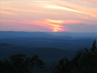 Sunset over Shinbone Valley and Lookout Mountain, GA. Photos at manystreamsranch