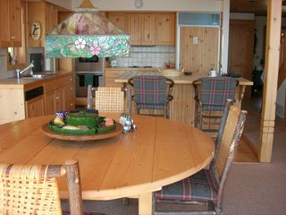 Lutsen house photo - dining room table and kitchen