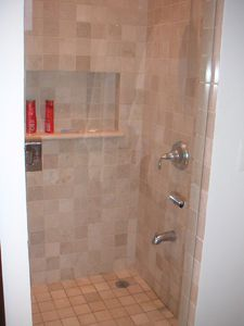 king-size bedroom shower