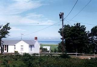 View from LR & deck to Sunken Meadow Beach - Eastham house vacation rental photo
