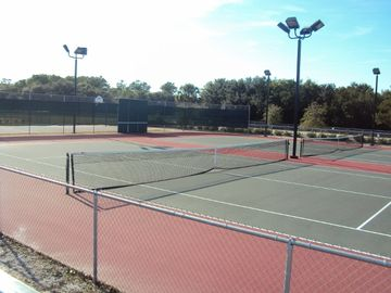 Tennis and Basketball courts about 5 blocks from the house