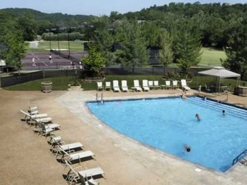 LedgeStone Club House pool and tennis courts.