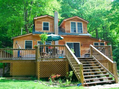 creek home for maryland com cabin md deep rentals cabins lake log in newdorpbaptist