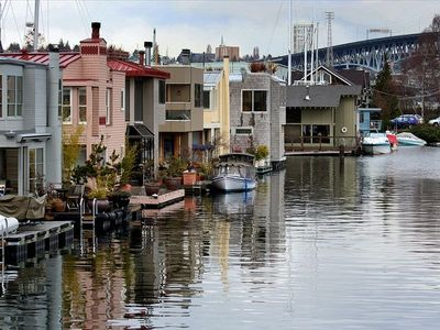 Famous Houseboat neighborhood straight down the hill just a few mins walk away
