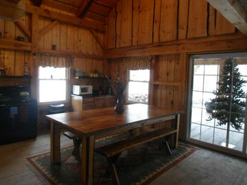 Handmade rustic diningroom table