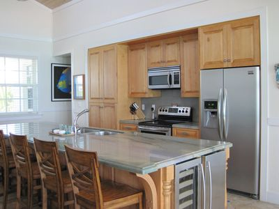 Gourmet Kitchen with wine fridge and ice maker