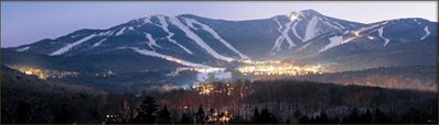 Evening view of Killington from Access Rd. in winter Not a view from the house