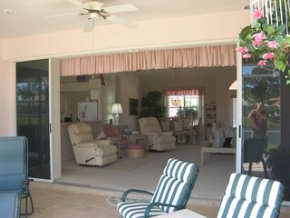 South Venice house photo - Alternate View of Living Room from Lanai