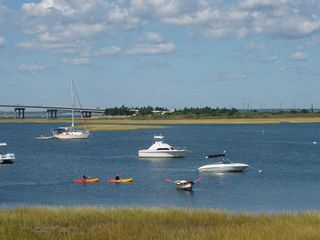 Brigantine townhome photo - Viewing our kayakers from the deck!