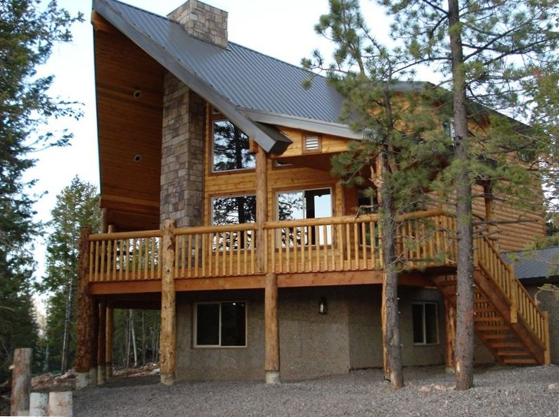 Luxury cabin in duck creek between zion vrbo for Vacation rentals near zion national park