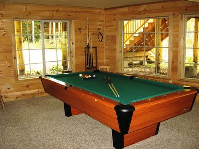 Play a game of pool on our full size pool table.
