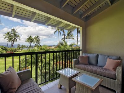 Lanai with entrances off of the master bedroom and dining room.
