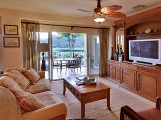 Jaco condo photo - Living room with built ins and large flatscreen