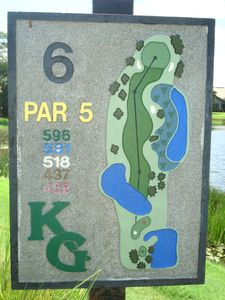 Overlooks hole number 6, located across from the mid section of lake at the top