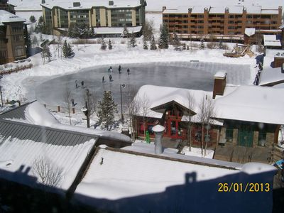 View to Ice rink from enclosed balcony