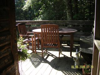 Meadows of Dan cabin photo - Outside Dining with Gas Grill