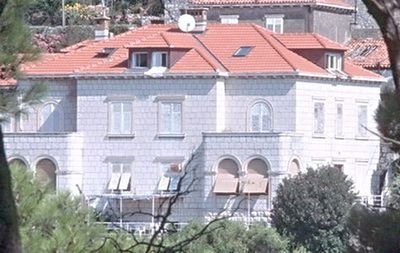 the apartments are in the attic of this villa