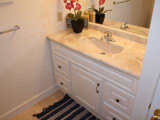 York Beach apartment photo - Full size bathroom with cabinets and large closet