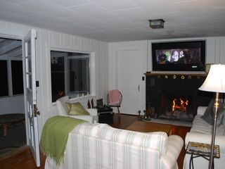 Clark Island cottage photo - Living room at night