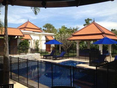 Optional removable pool fencing offers complete safety so you can really relax!