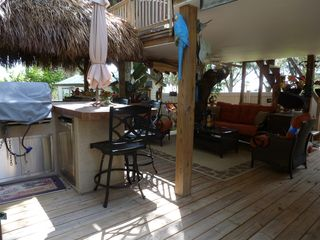Englewood house photo - Owners Outside Deck, Tiki Hut, and Island Grill with Bar Top seating