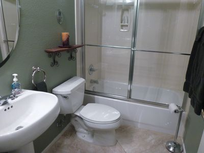 2nd bathroom with combination tub and shower