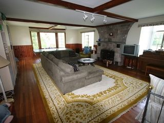 Great Barrington estate photo - Large Great Room with TV, PingPong and Fireplace