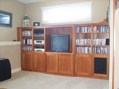 Hundreds of movies, games and cable access complete with surround sound