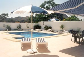 Mojacar Playa villa rental - Private pool & garden overlooking Mojacar village