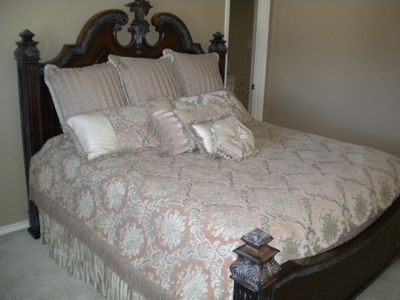 Upstairs bedroom #3 with King Size bed