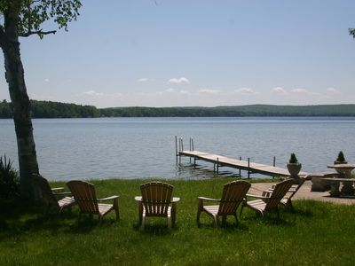Beautiful double lot on Green Lake, perfect for swimming, kayaking and fishing.