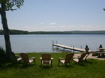 Interlochen cottage rental - Beautiful double lot and lake-front view