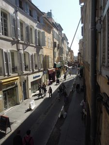 view of the street (rue d'Italie)
