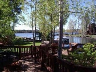 Pinetop house rental - View of Rainbow Lake from our deck.
