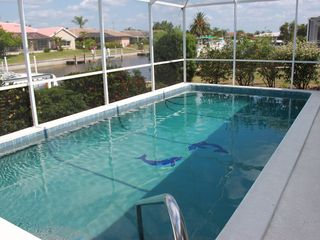 Punta Gorda house photo - View of the heated pool and canal.