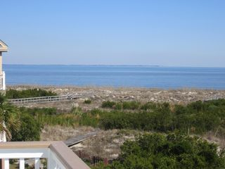 Harbor Island house photo - Views of St. Helena Sound & the Atlantic from the 2nd floor deck, looking NE.