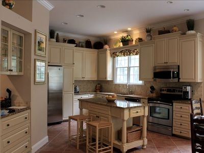 Chef's kitchen with custom cabinetry