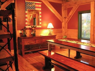 Saranac Lake cabin rental - Dining room