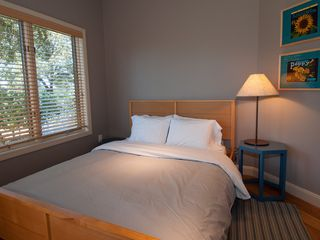 Sonoma house photo - First Guest Bedroom has a queen bed and looks out onto the vines