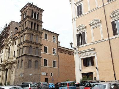 the luxury apartment in Palazzo Panizza. Built in year 1600. Overlooking Church