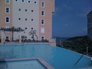 Fajardo apartment photo - Infinity Pool and children's pool. (There is a third pool on the first level)