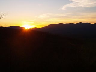 Ellijay cabin photo - A beautiful sunrise over the mountains