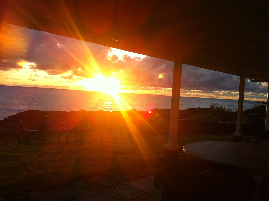 Glorious Sunrise - what a way to start your Hawaii holiday!