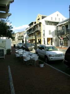 Stroll the cobblestone streets of Rosemary where shops and cafes abound.