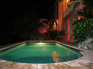 Tortola villa photo - Limin' House at night