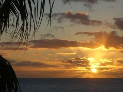 One of our beautiful sunsets from our beach!