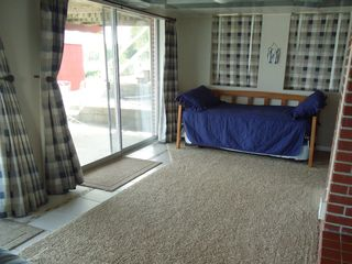 Silver Lake cottage photo - downstairs trundle bed carpet is 3 yrs. old