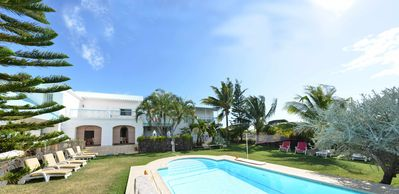 Villa Danielle sleeps 11  Villa Radha sleeps 4 - both opening on lawn, fenced garden & swimming pool