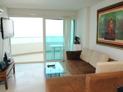 Apartment 801-A sea view, pool, gym, come and enjoy Cartagena